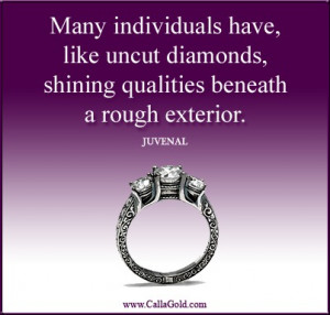 Diamond Quotes Black rhodium three diamond