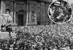 Hitler Picture - Hitler Celebrating the Declaration of WWI