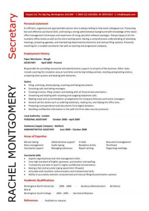 uniquely designed secretary resume that will quickly highlight to ...