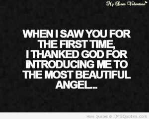 When I Saw You For The First Time I Thanked God For Introducing Me To ...