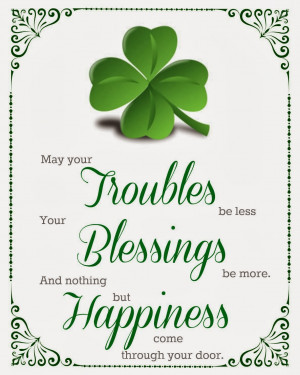 Irish Quotes About Family And Friends Blessing Printable picture