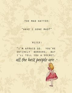 mad hatter have i gone mad printable digital downloadable poster quote ...