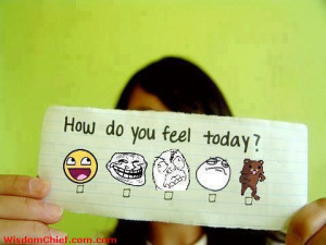 How Do You Feel Today Faces Chart