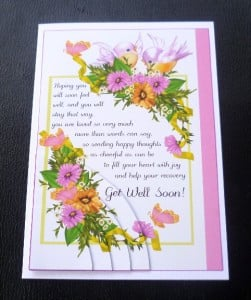 Details about Sending Happy Thoughts... Verse Get Well Soon Card