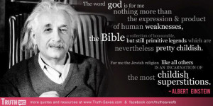Albert Einstein's quote at Truth-Saves