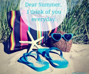 Dear Summer, I think of you everyday!