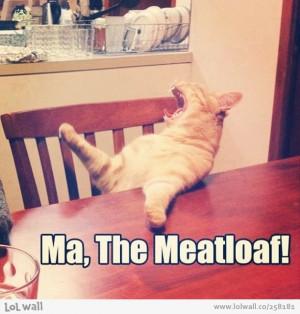 Ma The Meatloaf! Cat Meme