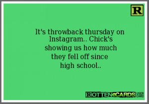 It's throwback thursday on Instagram.. Chick's showing us how much ...