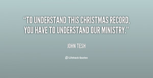 To understand this Christmas record, you have to understand our ...
