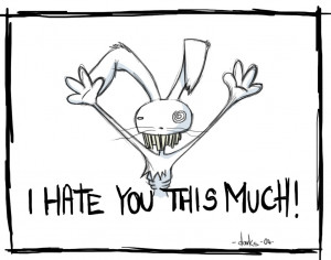 HATE YOU' , ikhram (: