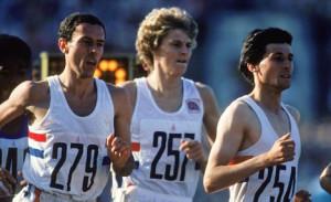 Steve Ovett, Steve Cram and Sebastian Coe