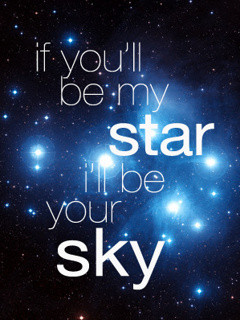 You Are My Star Wallpaper 240x320 cool, love, quote, romantic,