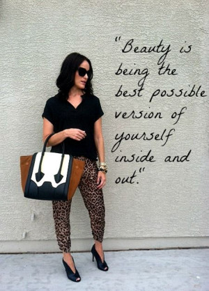 beauty, leopard print, quote