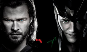 ... this picture of Chris Hemsworth and Tom Hiddleston as Thor and Loki