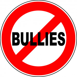 sign saying no to bullies