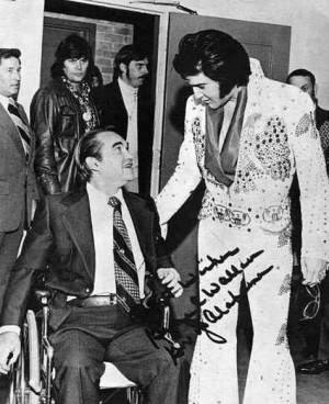 Gov. George C. Wallace (D-AL) and Elvis Presley