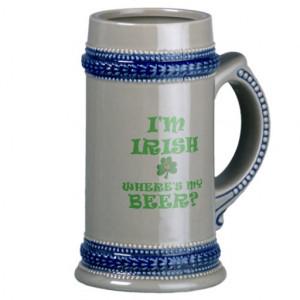 Funny Irish Beer Mugs