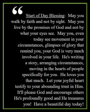 Blessing to Start Your Day!
