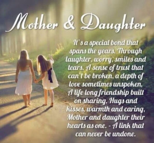 Mother & Daughters dedicated to my own mom who has gone to Heaven
