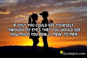 If Only You Could See Yourself Through My Eyes The..