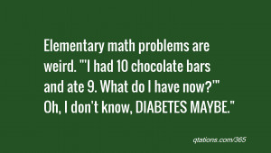 Elementary math problems are weird.