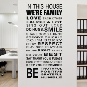 -House-We-Are-Family-Wall-Inspirational-Quotes-Decals-Motto-Life-New ...