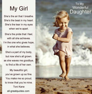 ... DAUGHTER Poems on Net for My Daughters Birthday Cards or Special