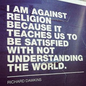 Atheism Against religion