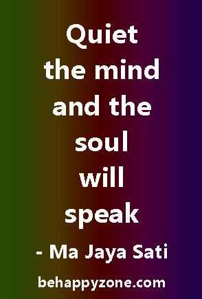 Zen Quotes - quiet meditation
