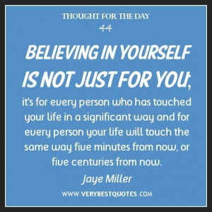 Inspirational thoughts about believing in yourself