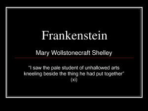 """... Frankenstein Mary Wollstonecraft Shelley """"I by liaoqinmei"""