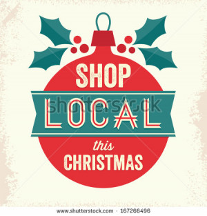 ... bauble and holly. Support small business, shop local for Christmas