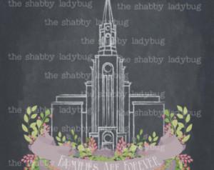 8x10 Instant download digital file Boston LDS Temple Chalkboard