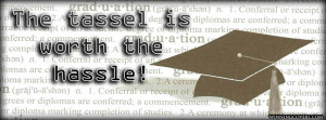graduates quote cap and tassle : graduation Day quote timeline cover