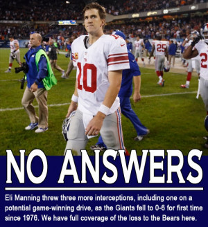 Eli Manning Threw Terrible