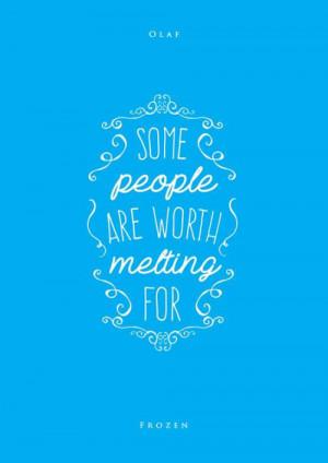 Disney Frozen Quote. ♥