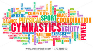 Gymnastics as an Athletic Competitive Sport Art - stock photo