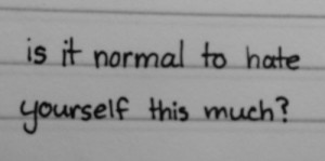 depression self harm self hate anorexia bulimia eating disorders ...