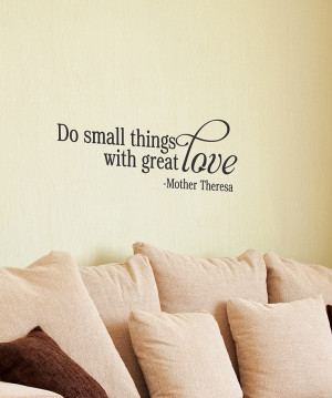 Black 'Great Love' Wall Quote