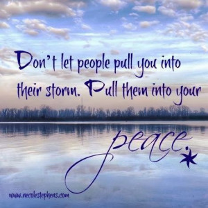 Amen! I choose peace!