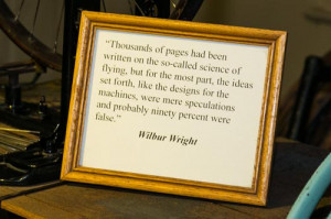 Wilbur Wright Quote on Flying