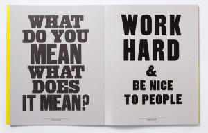 Hard Work Poster And work hard & be nice to