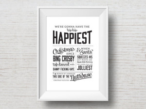 Christmas Vacation Quote - Funny Movie Quote Typography Art Print ...