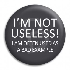 Home I'm Not Useless Button Badge