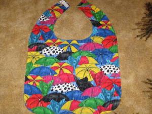 Handmade Special needs adult bib Rainy Day Umbrellas by mhswebmom, $18 ...