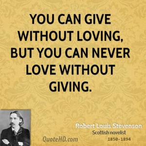 Robert Louis Stevenson Love Quotes
