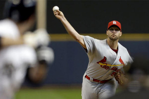 St. Louis Cardinals pitcher Adam Wainwright pitches against the ...