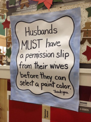 Lol! At Home Depot! ((This is too funny!! *&* it SHOULD be the case ...