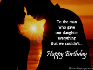 ... we would never remember that you are our son in law happy birthday son