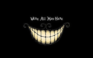 ... smile Cheshire Cat mad goth emo gothic cheshire twisted qsycho